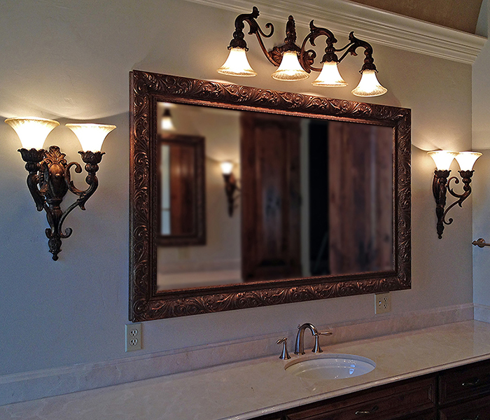 Framed Mirrors Buy Custom Mirrors Texas Custom Mirror - Custom framed bathroom mirrors