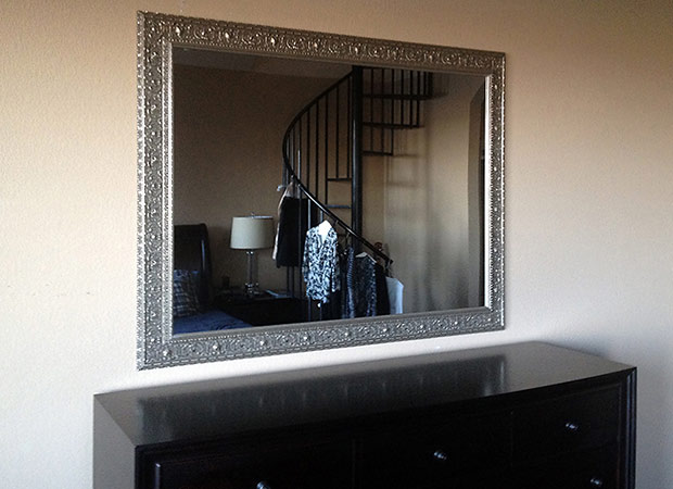 Silver Framed Dining Room Mirror