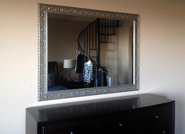 Silver Framed Dining Room Mirror