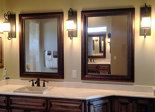 Matching Framed Bathroom Mirrors For Blanco Texas